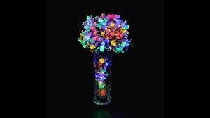 garden diy lighting decor lights solar powered 50 led blossoms