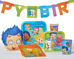 amazon com bubble guppies party hats masks 8 count party