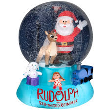 Rudolph The Red Nosed Reindeer Christmas Decorations Airblown Snowglobe Rudolph The Red Nosed Reindeer