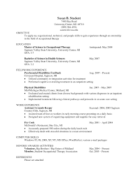 Pta Resume Sample Ot Resume Resume Cv Cover Letter