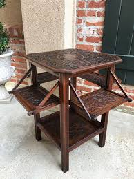 drop leaf end table antique english carved oak side drop leaf end table server craftsman