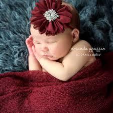 burgundy headband teal baby headband newborn headband from sweet ellas boutique