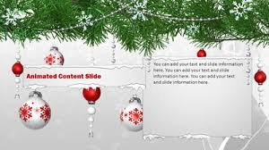christmas ornaments a powerpoint template from presentermedia com