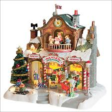 lemax halloween houses amazon com lemax christmas village santa u0027s workshop by lemax