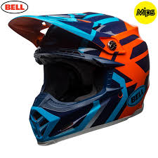 motocross helmets 2018 bell moto 9 motocross helmet district blue orange 1stmx co uk