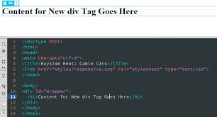 html div tag how to make a website in dreamweaver part 2 add html content