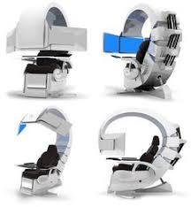 emperor computer chair futuristic computer workstation pod it looks like those