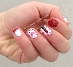 girly nails polish and paste