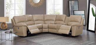 Leather Motion Sectional Sofa U15026 Power Motion Sectional Sofa Bonded Leather By Global