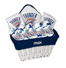 Okc Thunder Home Decor Oklahoma City Thunder Nba Personalized Infant Baby Gift
