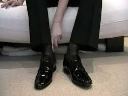 Tuxedo Socks Patent Slip On Shoes And Sheer Socks Youtube
