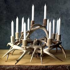 candle centerpiece antler candle centerpiece