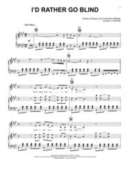 Rather Go Blind Lyrics Beyonce Eddi Reader Sheet Music To Download And Print World Center Of