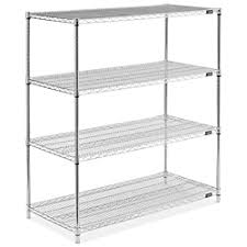 White Wire Shelving Unit by Chrome Wire Shelving Unit 48 X 24 X 54