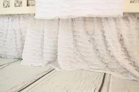 White Ruffle Crib Bedding White Crib Skirt White Crib Bedding White Bed Skirt