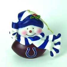 forever collectibles indianapolis colts musical snowman ornament
