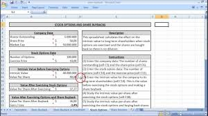 How To Share An Excel Spreadsheet Options Youtube Share Stock Spreadsheet Buyback And Stock Options