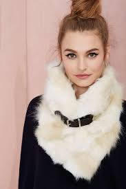 nasty gal neck yourself faux fur scarf in white lyst