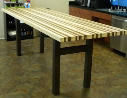 wood counter height table custom maple and walnut breakroom counter height table by north