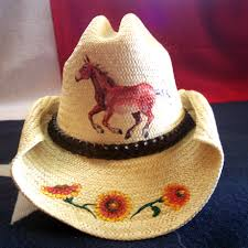 unique custom hand painted western hats the texas mule artist