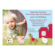 farm animal invitations u0026 announcements zazzle