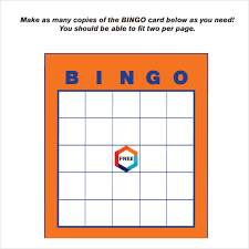 sample bingo card template sample bingo card template free sample