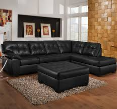 Black Tufted Sofa by U Shaped Gray Leather Plaid Pattern Sectional Sleeper Sofa With