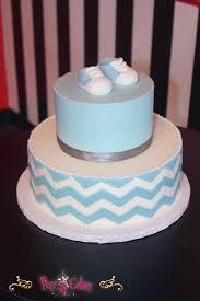 baby shower cake 2 tier boy chevron blue booties u2013 pixy cakes