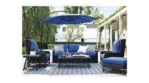 furniture blue cantilever patio umbrella with black stand with