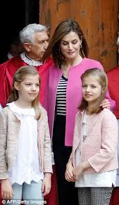 princesses sofia leonor spain join queen letizia king