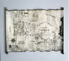 Map Westeros Essos Map And Westeros Map Scroll Poster Game Of Thrones Map