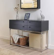 Z Oak Console Table Furniture Cool And Modern Foyer Table Z Wide Drawer Console