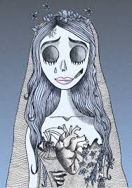 corpse bride portrait tattoo design by unsorteddots