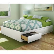 step one full double storage platform bed platform beds