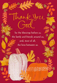 with and gratefulness religious thanksgiving card greeting
