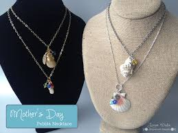 shell necklace making images Pebble necklace for mother 39 s day shipwreck beads jpg