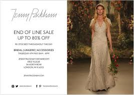 Wedding Lingerie Sale Jenny Packham End Of Line Bridal Sale London May 2017