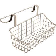 over cabinet door basket with towel bar in cabinet door organizers