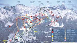 Colorado Ski Map by Pila Piste Map Trail Map