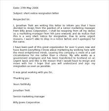 8 two week notice resignation letter templates free