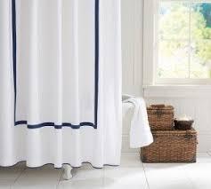 Monogram Shower Curtains Navy Blue Shower Curtains Foter