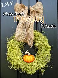 diy moss rock thanksgiving wreath top easy design for interior