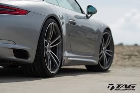 a graphite blue drop top beauty 991 2 cab techart hre tag techart 991 2 lowering springs are here tag motorsports
