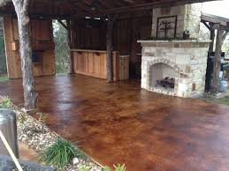 Cover Cracked Concrete Patio by Our Superior Stains Concrete Staining Services Concrete Staining