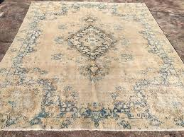 Antique Area Rug Reserved Large Area Rug Disstressed Antique Oushak Rug Oushak