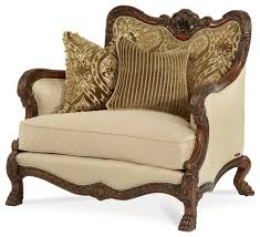Traditional Accent Chair Chateau Beauvais Chair And A Half Traditional Armchairs And