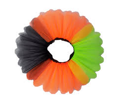 i love halloween neon tutu skirt black top vest pumpkin print
