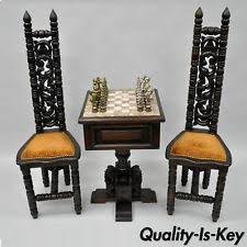 Chess Table And Chairs Antique Chess Table Ebay
