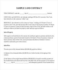 7 land contract templates free sample example format download