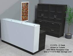 Reception Desk With Glass Display Custom Reception Desks W Glass Counter 5 W Desk